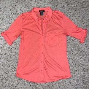 💠 2 for $20! Coral collared shirt